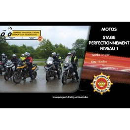 Motos - Stage Perfectionnement Niveau 1