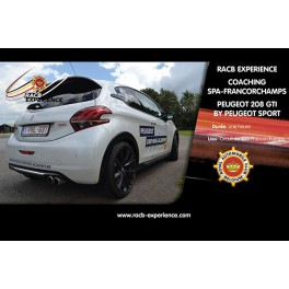 Coaching PEUGEOT 208GTi by PEUGEOT Sport Spa-Francorchamps