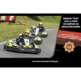 "Session ""fun"" au karting de Francorchamps"