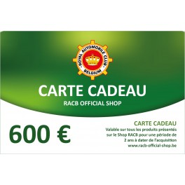 Gift card 600 €
